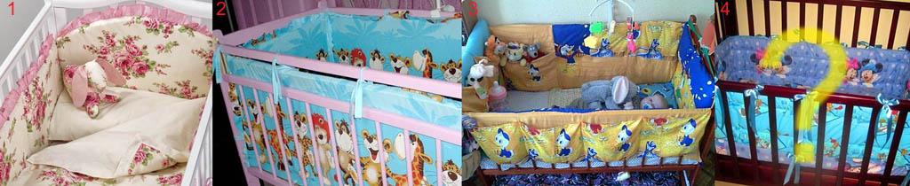 oformlenie-myagkih-bortikov-detskoj-krovatki-dlya-de Как сшить бортики в кроватку для новорожденных своими руками