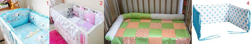 Виды мягких бортиков в детскую кроватку