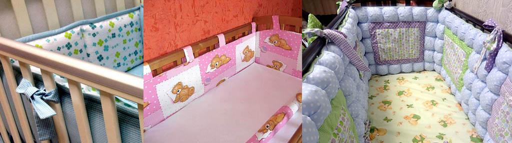 Завязки для мягких бортиков детской кроватки