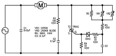Электрическая принципиальная схема пылесоса с регулировкой мощности