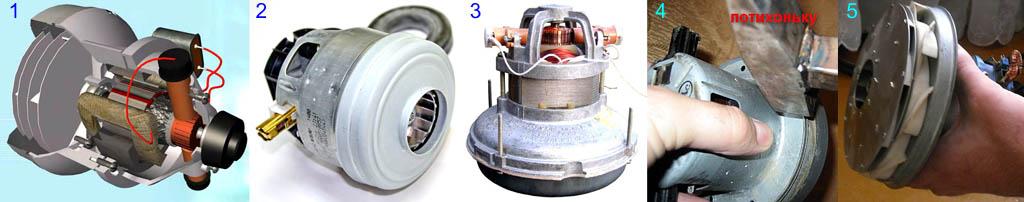 Устройство и разборка двигателя пылесоса