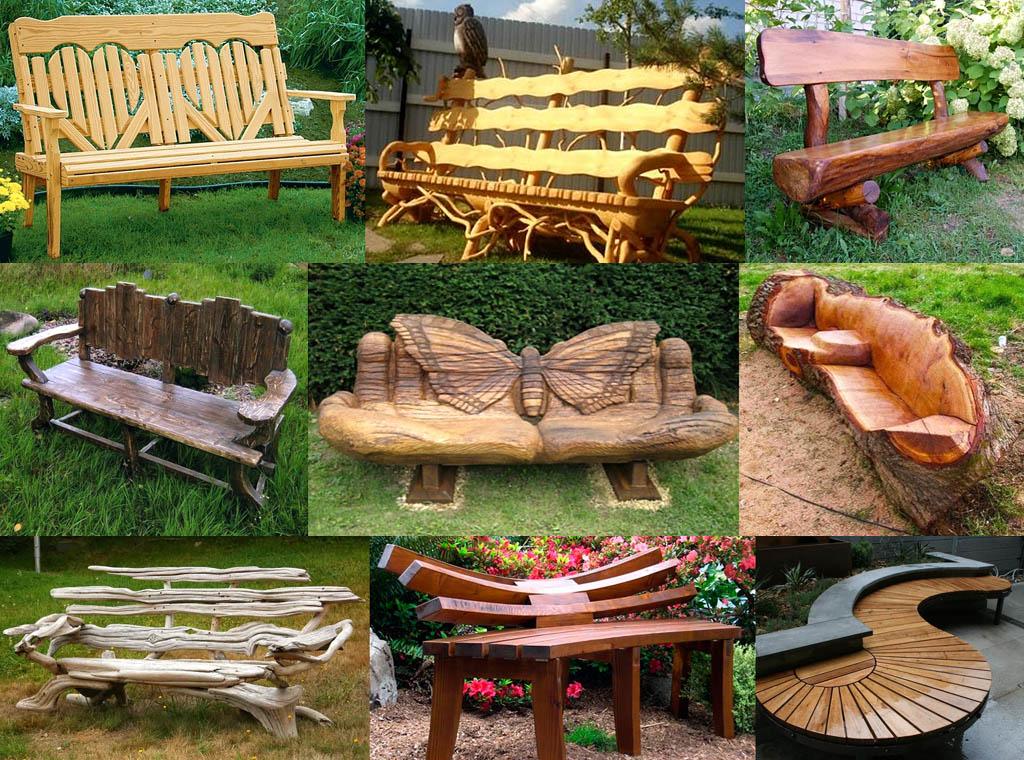 Лавочки и скамейки самостоятельного изготовления