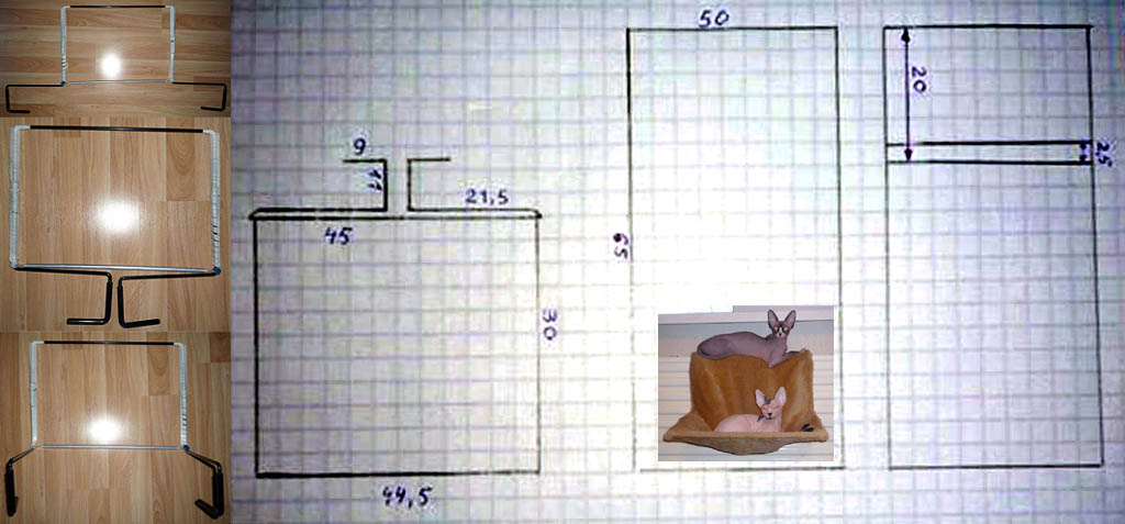 Проволочный лежак на батарею для кошки