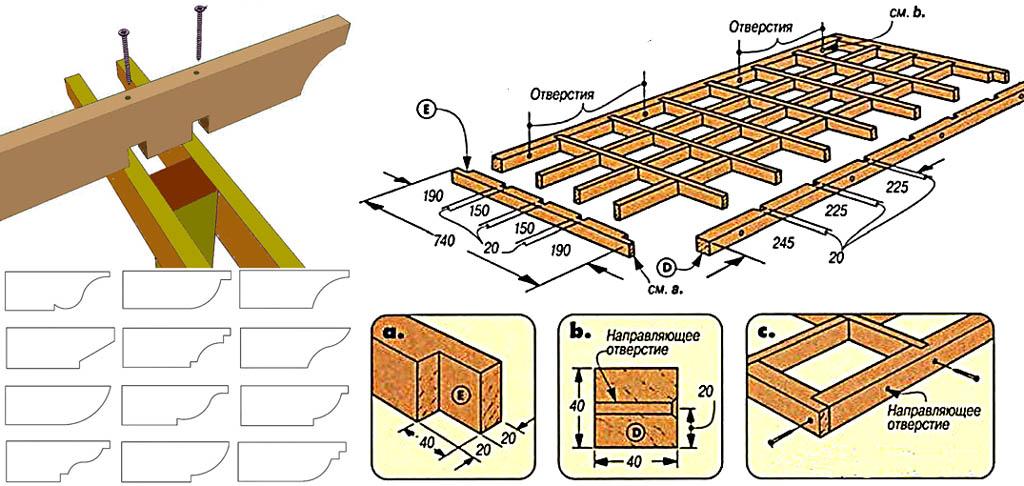 Технические приемы строительства перголы