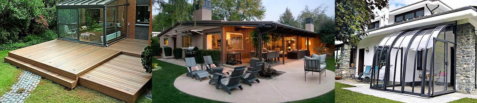 Комбинированные террасы для согласования архитектуры дома с ландшафтом