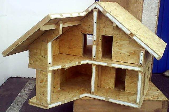 Объемная модель цельного дома из СИП