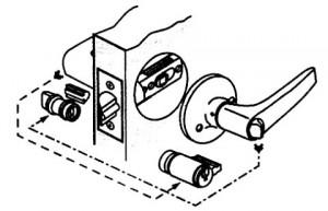 Как превратить правый замок в круглом корпусе для межкомнатной двери в левый и наоборот