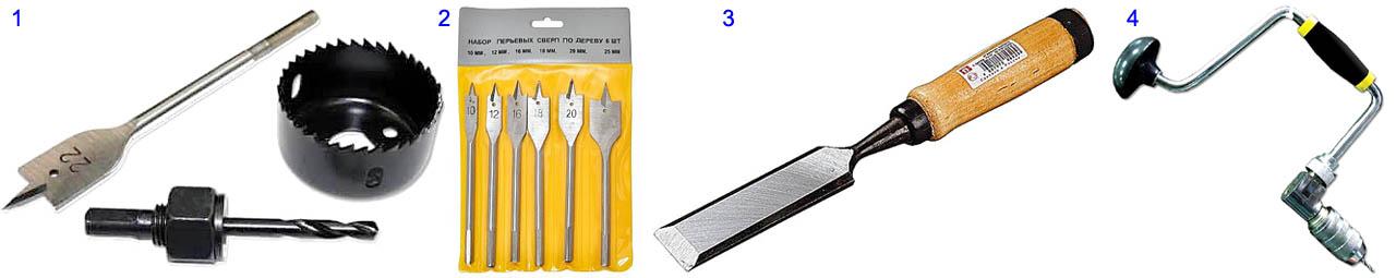 Ручной инструмент для врезки замка