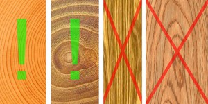 Правильные и неправильные срезы дерева на торцах деталей шкатулки