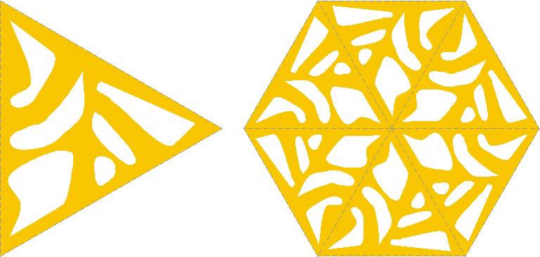Создание узора для крышки шкатулки по принципу калейдоскопа