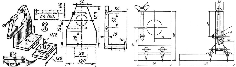 Передние бабки - зажимы для токарного станка по дереву из дрели