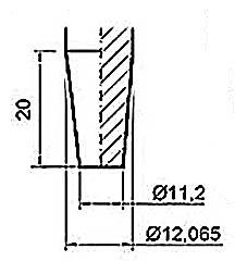 Размеры конуса Морзе под патрон дрели №1