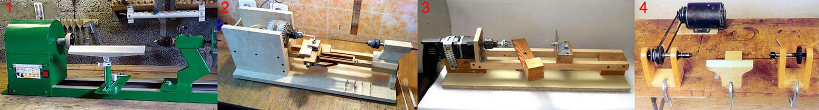Самодельные токарные станки по дереву из различных материалов