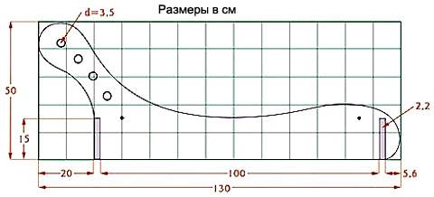 Профиль боковины детского анатомического шезлонга