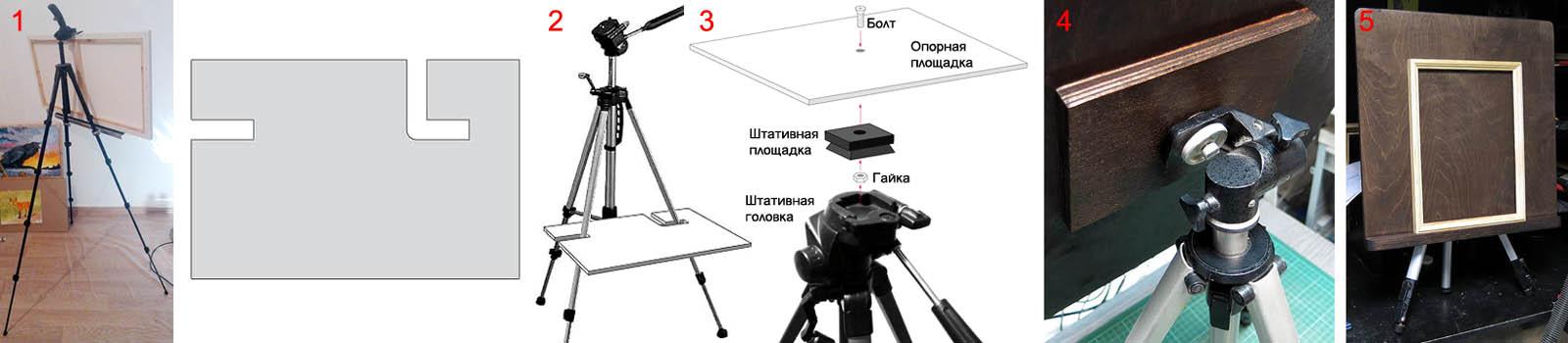 Как сделать мольберт из фото/видео штатива