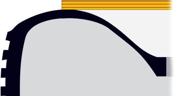 Укладка основания сиденья на заготовку пуфика из шины