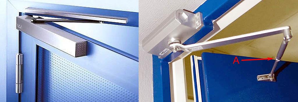 Ограничители распахивания двери с пневмогидравлическими тормозными устройствами