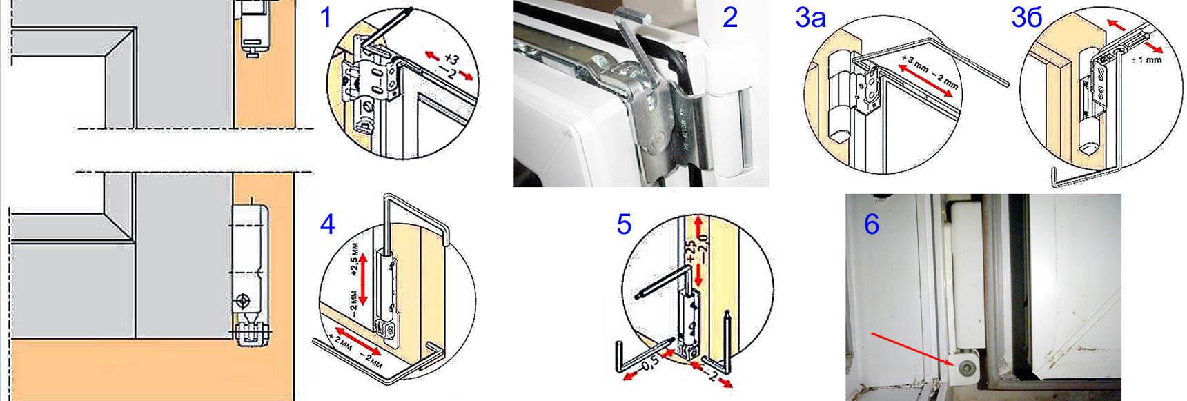 Особенности регулировки петель балконной пластиковой двери