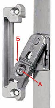 Устройство вильчатого запирающего механизма металлопластиковой двери