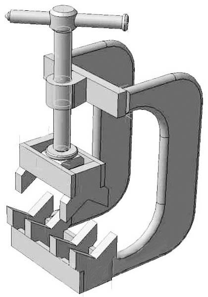 Струбцина для сварки и пайки труб встык