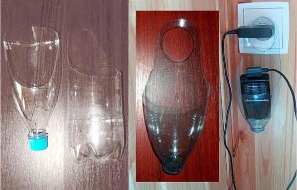 Держатель на время зарядки телефонного аппарата из пластиковой бутылки