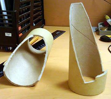 Подставка для телефона из картонной трубы