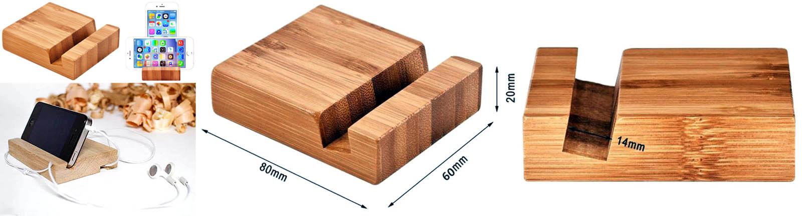 Простая подставка для телефона из дерева