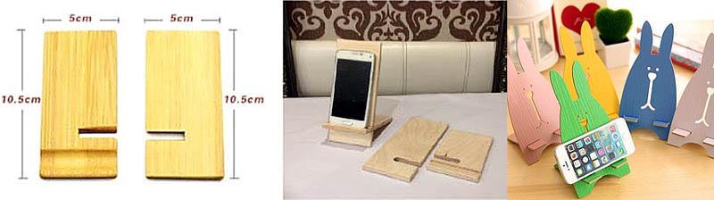 Простые подставки для телефонов из фанеры
