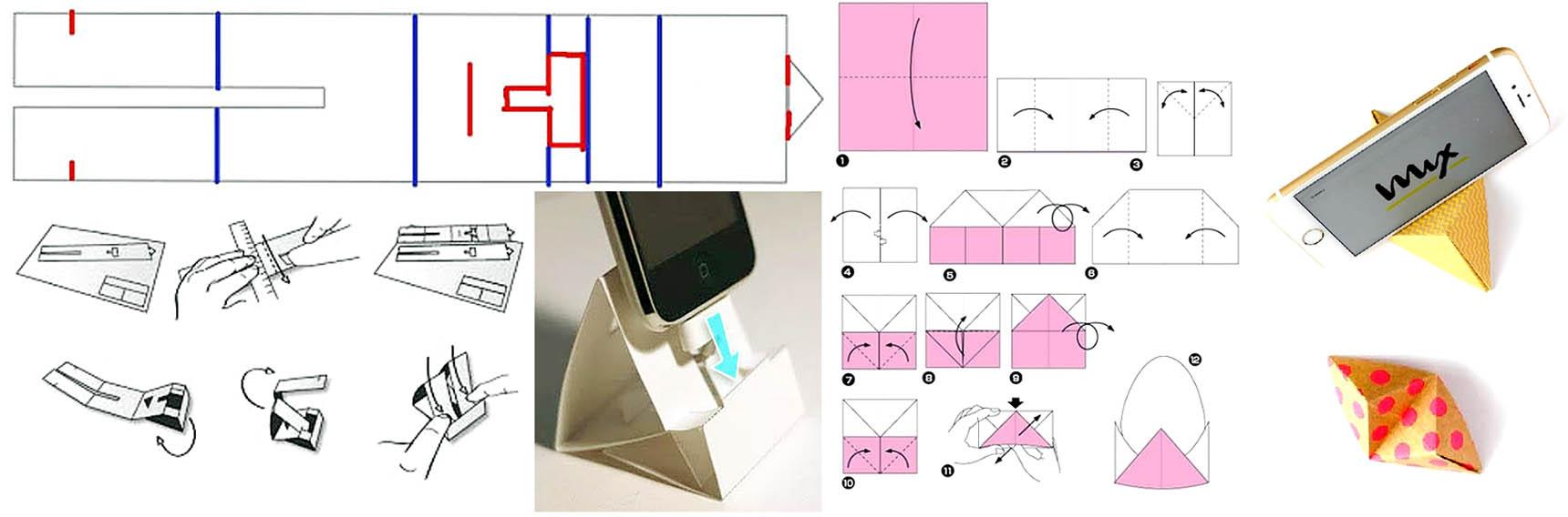 Способы изготовления подставок под телефоны из бумаги