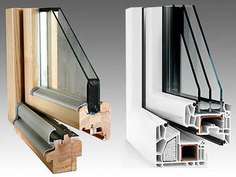 Двойной (однокамерный) и тройной (двухкамерный) стеклопакеты для застекления окон и дверей